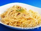 Рецепта Спагети с яйца, шунка и пармезан
